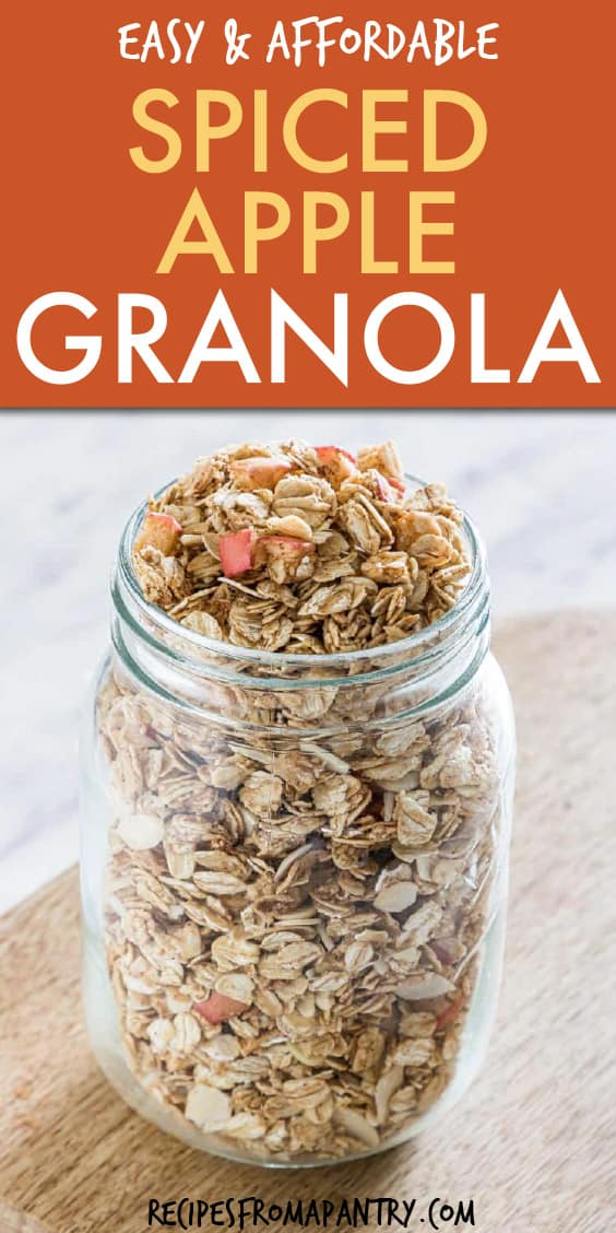 SPICED APPLE GRANOLA