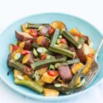 My Christmas Roast Sweet Potato and Okra Salad – Sierra Leone Flavours