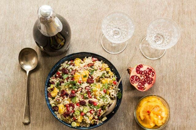 couscous with pomegranate and pistachio