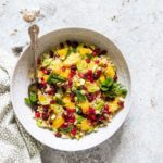 15 Min Orange, Pistachio and Pomegranate Couscous Salad {Vegan}