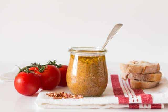 Rose Petal Pesto @ Recipes From A Pantry