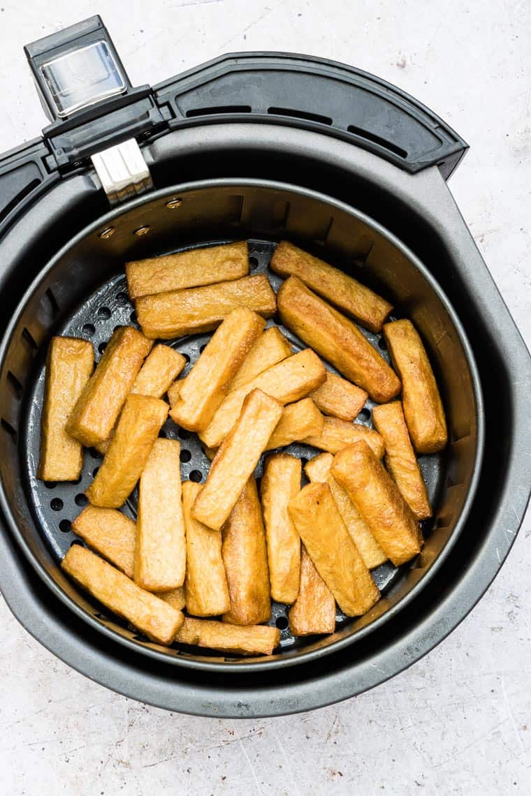 air fried polenta fries in the air fryer