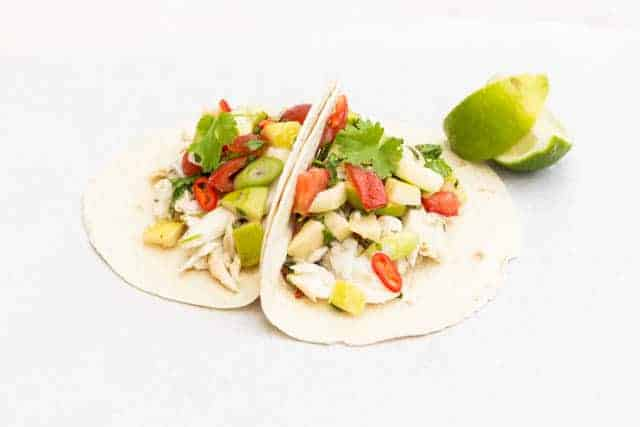 Grilled fish taco with guava salsa | Recipes From A Pantry