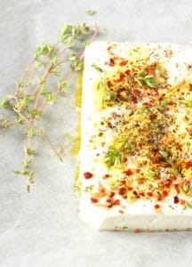 Chilli and Herb Baked Feta Cheese | Recipes From A Pantry