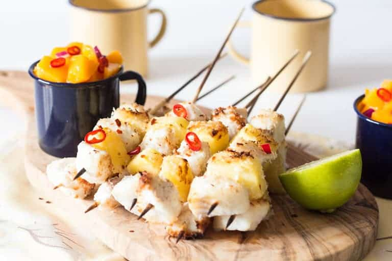 Coconut Fish Kebab Recipe | Recipes From A Pantry