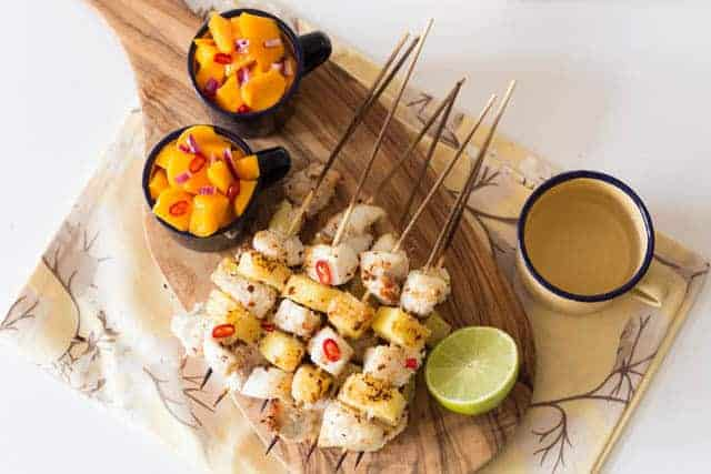 Coconut Fish Kebabs Recipe | Recipe From A Pantry
