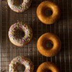 Baked Baileys Doughnuts with a Baileys Glaze (and Sprinkles)