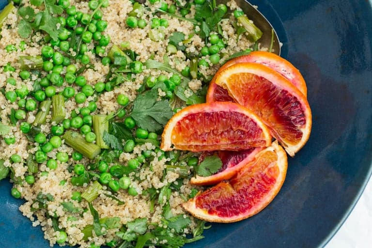 Roasted Orange,  Quinoa and Asparagus Salad | Recipes From A Pantry