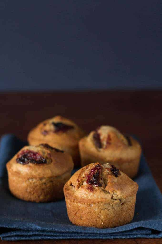 Roasted Balsamic Strawberry Muffins Recipe| Recipes From A Pantry