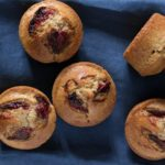 Roasted Balsamic Strawberry Muffins