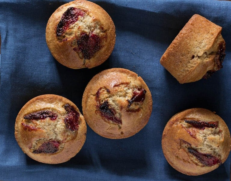 Roasted Strawberry Muffins Recipe| Recipes From A Pantry
