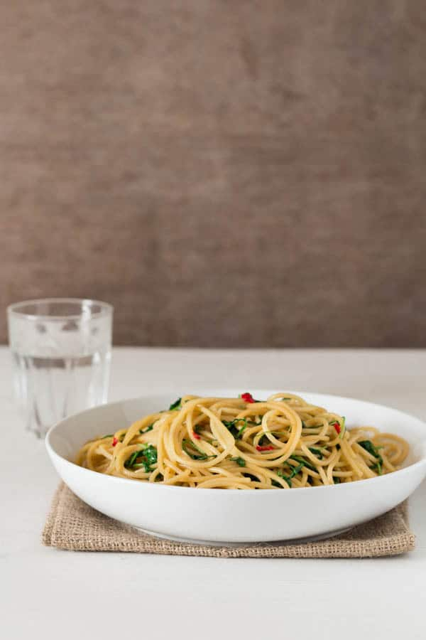 Garlic Chilli and Wild Rocket Pasta Recipe   Recipes From A Pantry