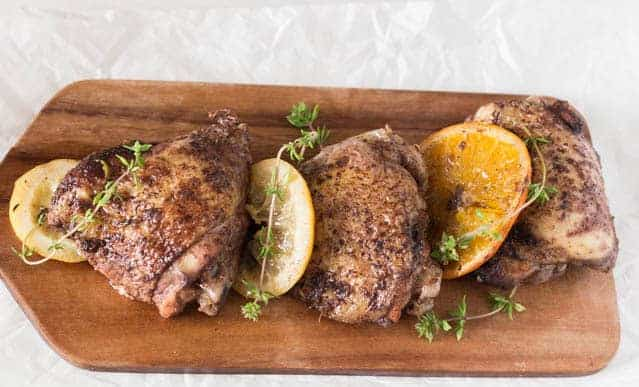 slow cooker orange, lemon and allspice chicken recipe | Recipes From A Pantry