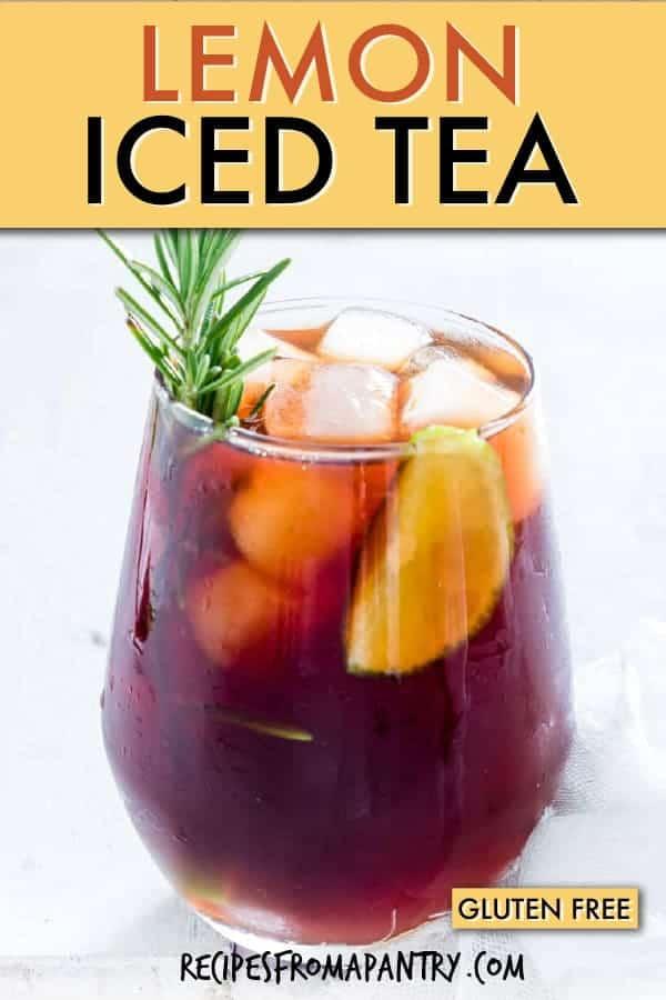 caffeine free lemon iced tea