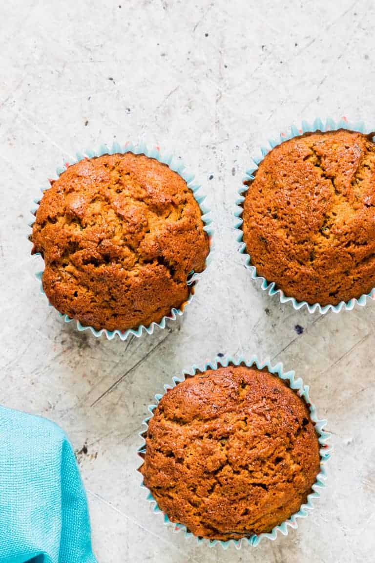 Chai courgette muffins recipes | recipesfromapantry.com