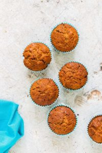 chai courgette muffins