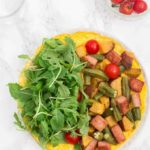Open-Faced Omelette with Sweet Potato, Okra and Spam – Sierra Leone Flavours