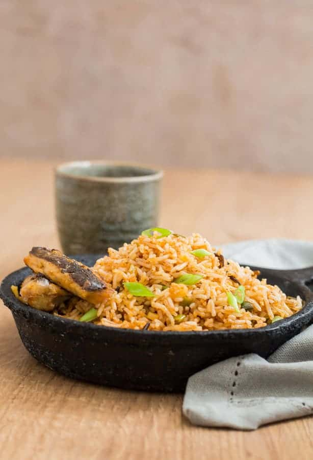 Cinnamon Butter Fried Rice with Grilled Sardine Recipe   Recipes From A Pantry