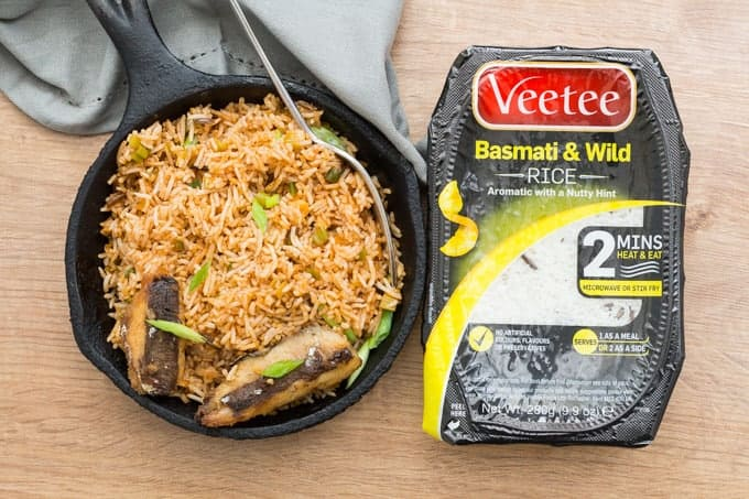 Cinnamon Butter Fried Rice with Grilled Sardine Recipe | Recipes From A Pantry