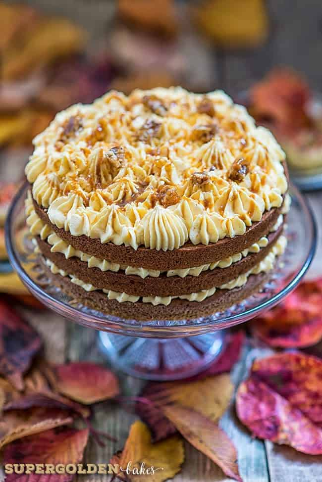 perfectly Autumnal Pumpkin Praline Cake