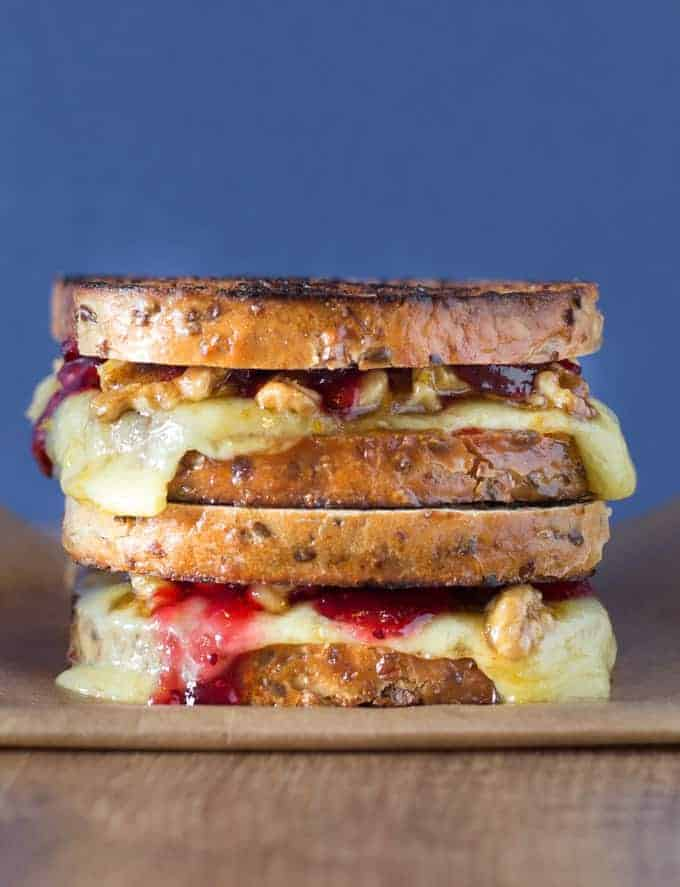 Grilled Cheese Sandwich with Orange and Honey Walnuts Recipes | Recipes From A Pantry