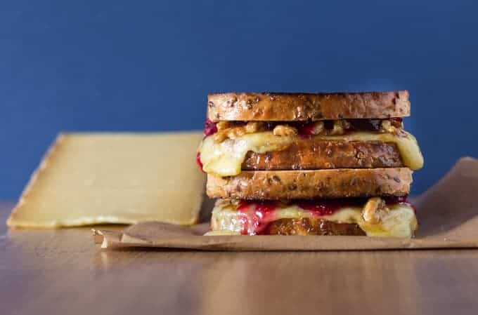 Grilled Comte Cheese Sandwich with Orange and Honey Walnuts Recipes | Recipes From A Pantry