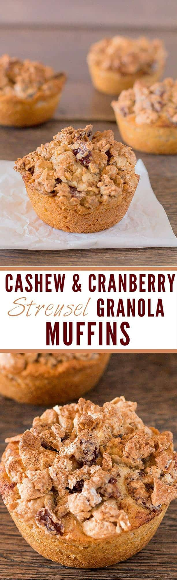 Cashew and Cranberry Streusel Granola Muffins | Recipes From A Pantry