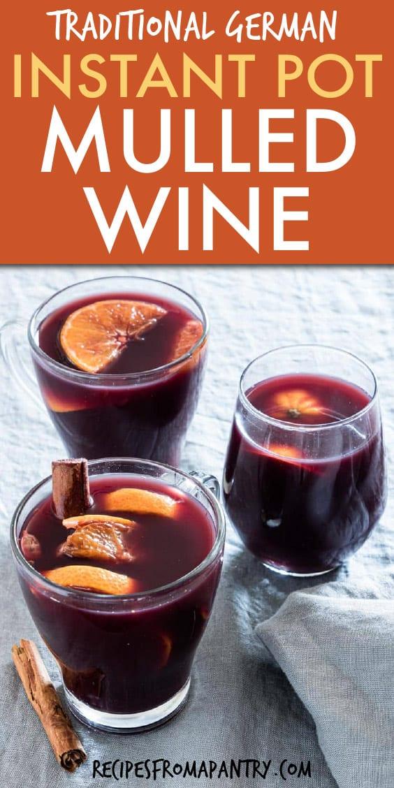 instant pot orange mulled wine
