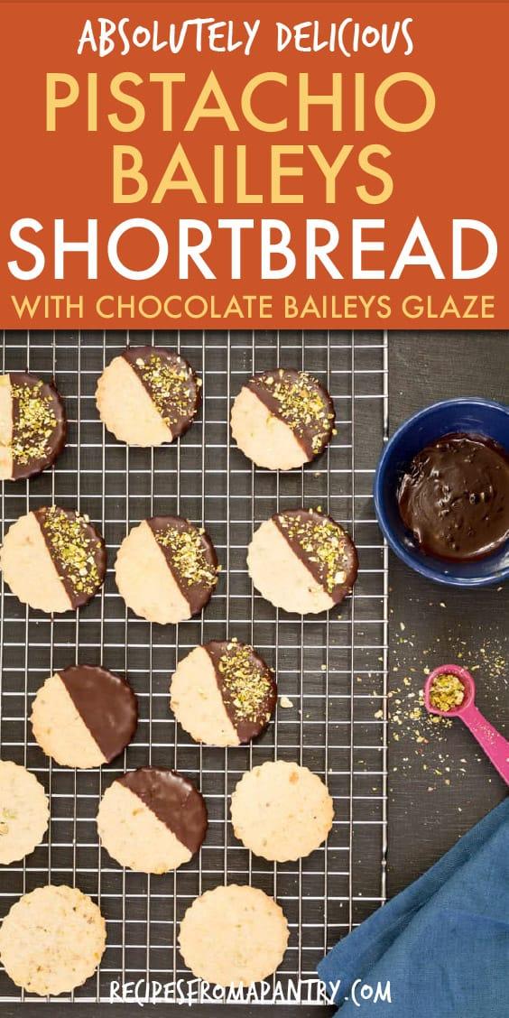 pistachio and baileys shortbread cookies