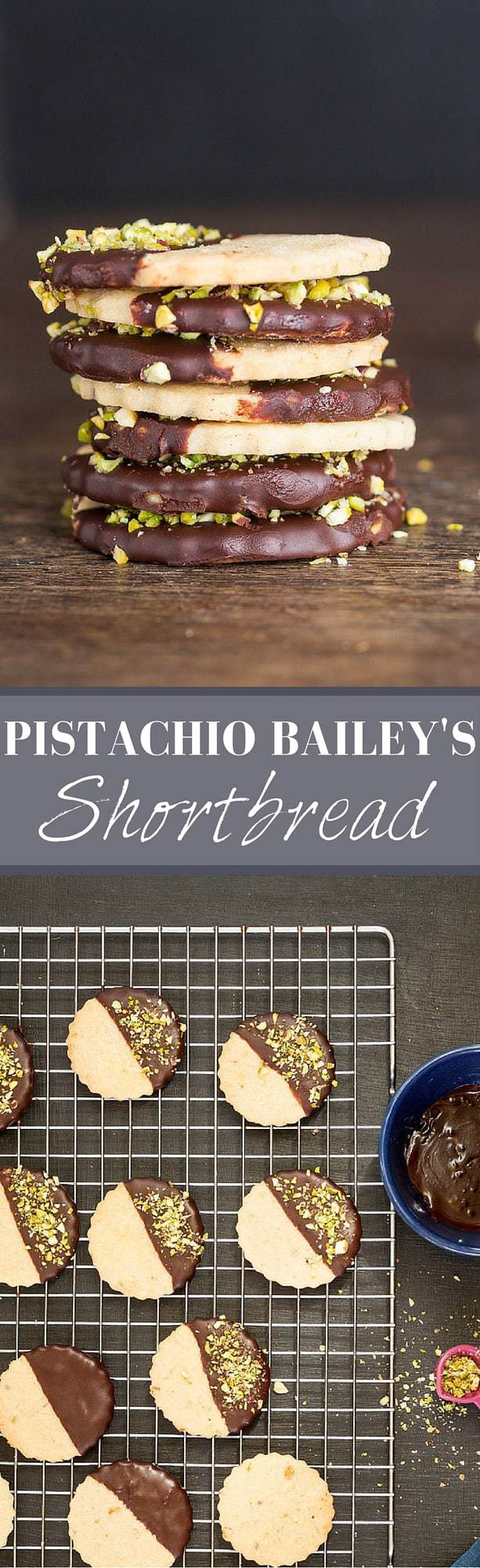 Pistachio Baileys Shortbread | Recipes From A Pantry