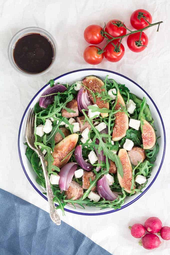 Fig-and-Sausage-Salad-Recipe | Recipes-From-A-Pantry