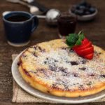 Easy Baked Vanilla Blueberry Pancake #pancakeday