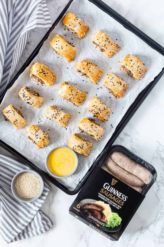 Guinness Sausage rolls - Recipes From A Pantry