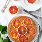 Olive Oil, Cardamom and Blood Orange Polenta Cake
