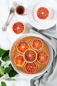 Olive oil, cardamom and blood orange polenta cake | Recipes From A Pantry