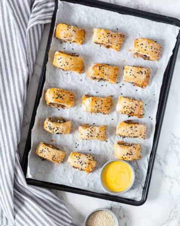 Wild Garlic and Guinness Sausage rolls - Recipes From A Pantry
