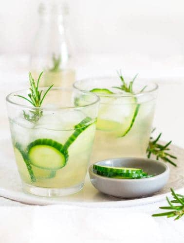 cucumber and rosemary infused ginger beer
