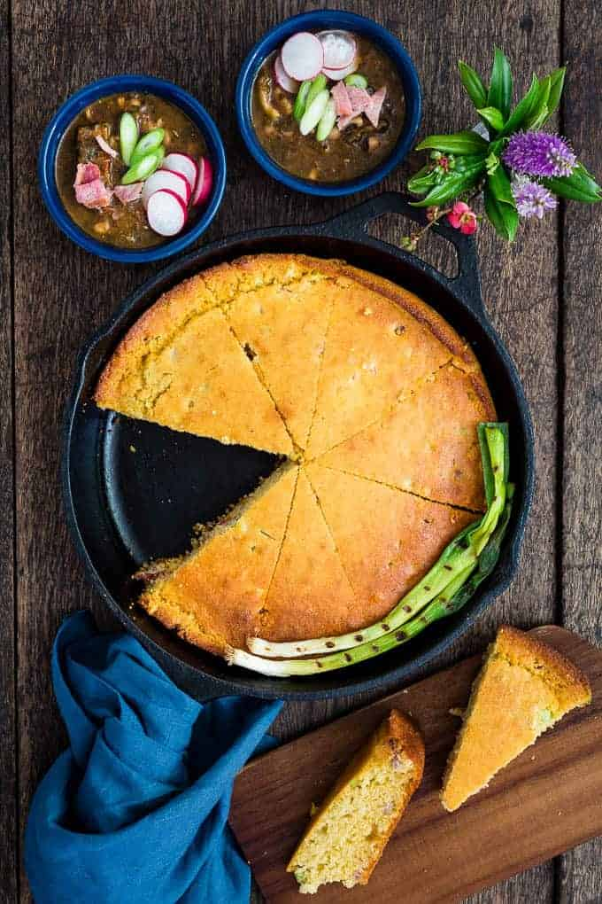 Bacon and spring onion cornbread-21 | Recipes From A Pantry