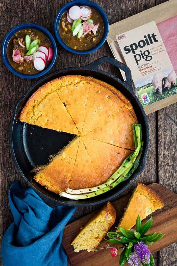 Bacon scallion cornbread-23 | Recipes From A Pantry