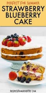 strawberry blueberry cake