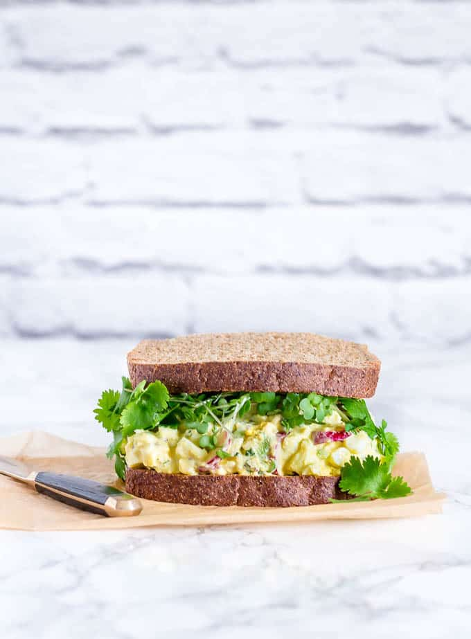 Egg mayonnaise radish sandwich 2 | Recipes From A Pantry