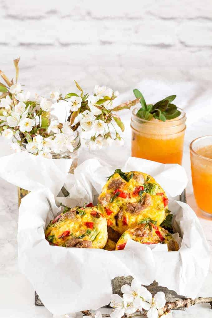 Gluten free mini baked sausage frittatas -18   Recipes From A Pantry