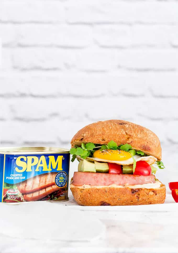 Grilled SPAM Breakfast Sandwich-3 | Recipes From A Pantry