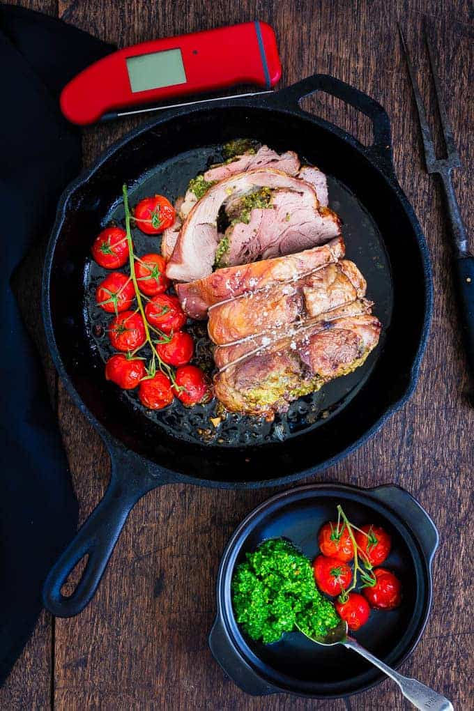Lamb stuffed with pesto and anchovies, and cirio images-11 | Recipes From A Pantry