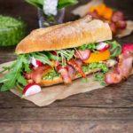 Smoked Bacon and Watercress Pesto Sandwich