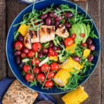 A Summer Grilled Corn, Chicken And Grape Salad {GF} {Zyliss Swift Dry Salad Spinner Review}