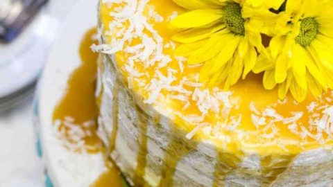 Mango Cake With A Coconut Caramel Drizzle + Tutorial