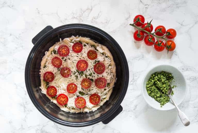 Summer Pesto Pizza With Tomatoes-3 | Recipes From A Pantry