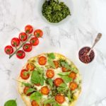 Summer Pesto Pizza With Tomatoes