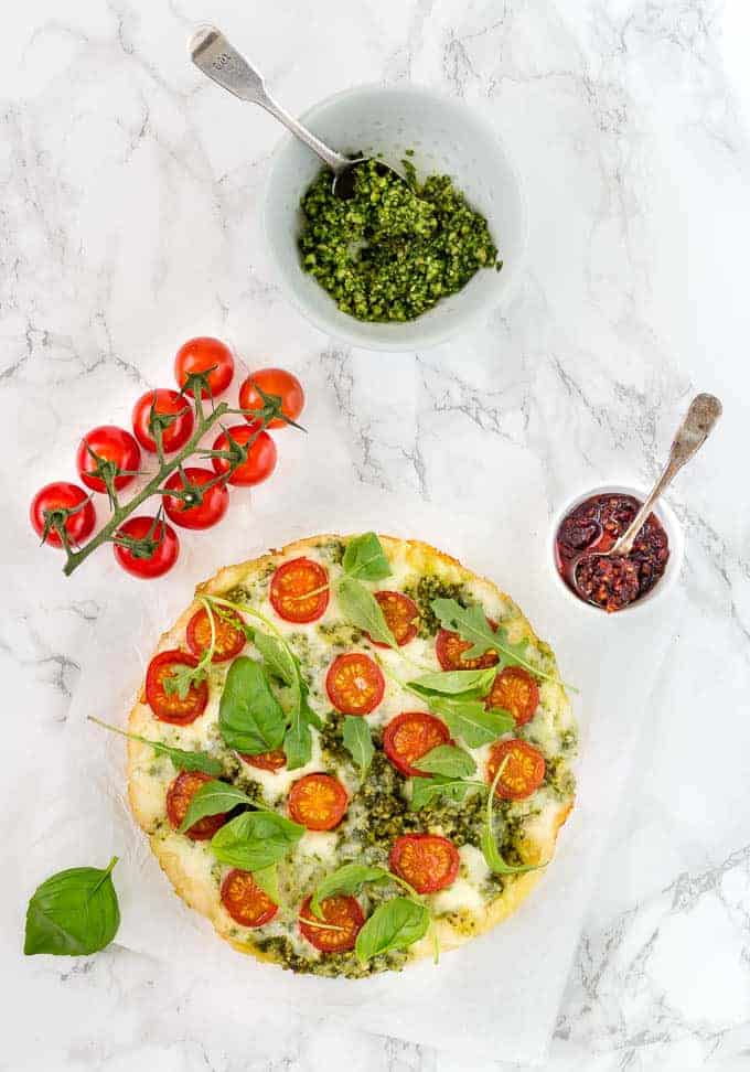 Summer Pesto Pizza With Tomatoes-33 | Recipes From A Pantry